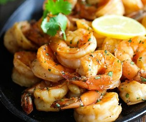 food, shrimp, and seafood image