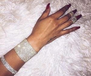 diamond, nails, and jewelry image