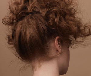curly, vintage, and girl image