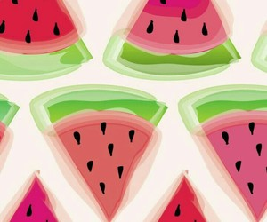 girly, watermelon, and cute image