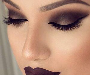 makeup, dark, and eyes image