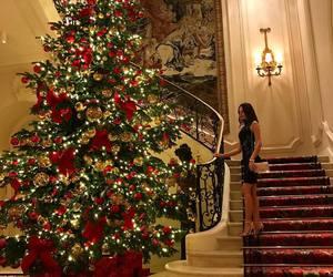 girl, beautiful, and christmas image