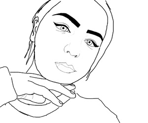 aesthetic, brow, and outline image