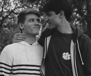 bisexual, blackandwhite, and stare image