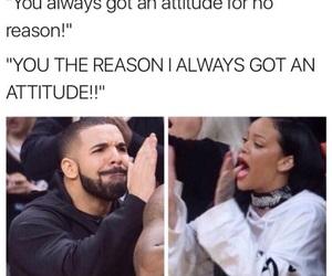 funny, Drake, and rihanna image