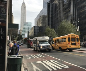 buildings, bus, and cool image