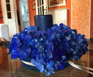 bday, blue, and flowers image