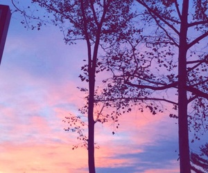 colors, pretty, and sunset image