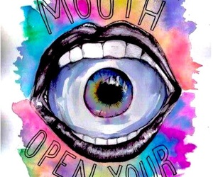 mouth, eyes, and quotes image