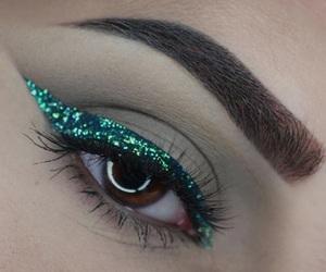 eye, make up, and sparkle image