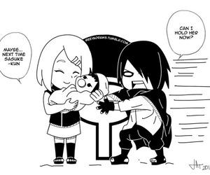 funny, sasuke uchiha, and sasusaku image