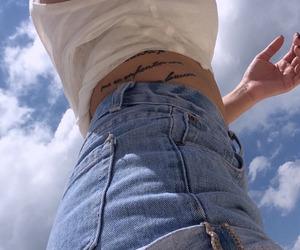 blue, tattoo, and sky image