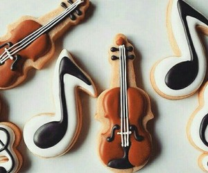 music, Cookies, and notes image