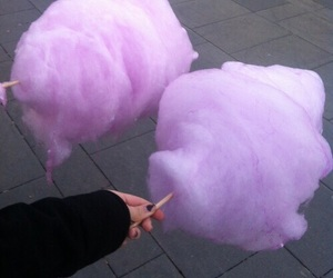 purple, food, and cotton candy image