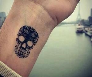 tattoo, black, and skull image