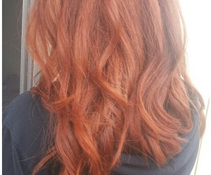 cabelo, ginger, and hair image