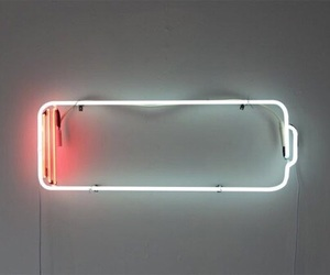 neon, battery, and light image