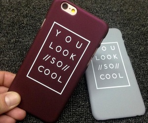 burgundy, iphone, and case image