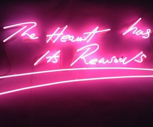 neon, heart, and pink image