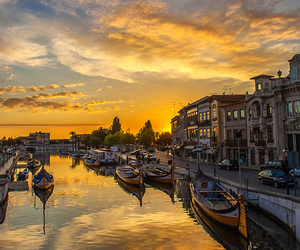 portugal, aveiro, and sunset image