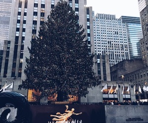 christmas, newyork, and thecity image