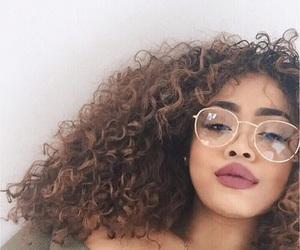 glasses, hair, and makeup image