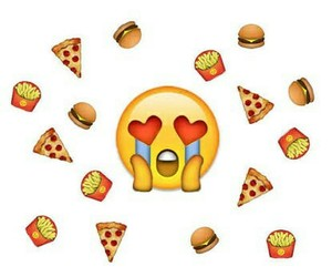 food, pizza, and emoji image