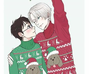 anime, yuri on ice, and christmas image