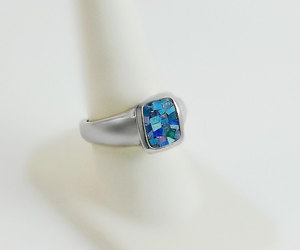 etsy, gift for her, and chunky ring image