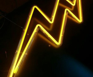 yellow, neon, and light image