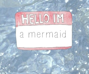 mermaid, wallpaper, and hello image