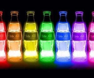bright, coca cola, and colors image