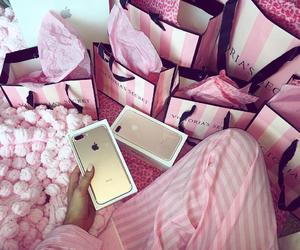 iphone, pink, and luxury image