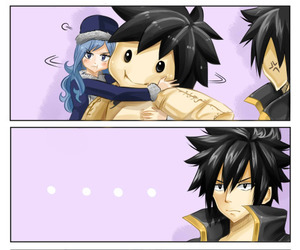 gruvia, fairy tail, and gray fullbuster image