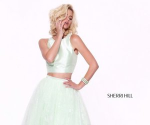 prom dresses, sherri hill 50787, and 2017 two piece dress image