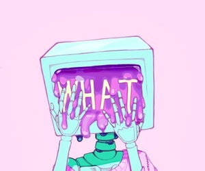 what, pink, and wallpaper image