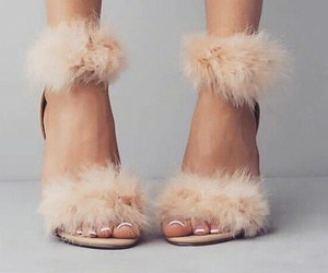 fashion, fluffy, and shoes image