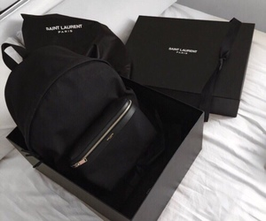 black, bag, and style image