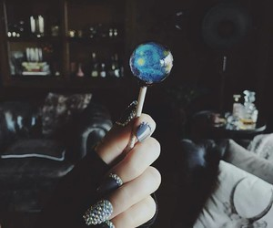 blue, nails, and lollipop image