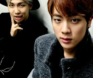 bts, jin, and namjin image