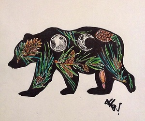 animals, art, and bear image