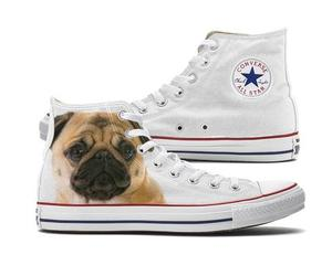 converse, dogs, and pugs image