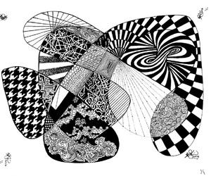 b&w, ink, and abstract line art image