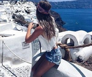 beach, girl, and girly image