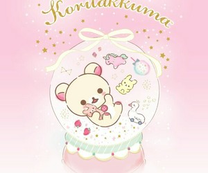 pink, rilakkuma, and bear image