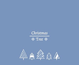 blue, christmas tree, and invierno image