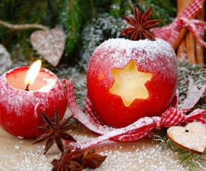 apple, christmas, and xmas image