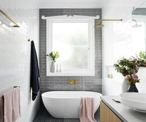 bath, design, and flowers+ image
