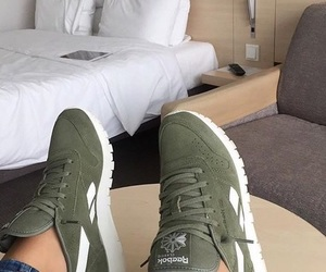 green, reebok, and shoes image