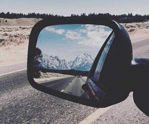 car, mirror, and travel image